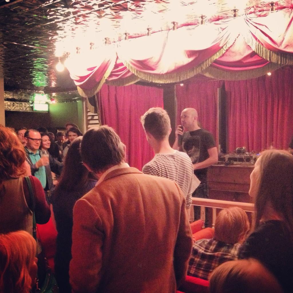 Peter Daly, DFF Board Member, opens the 2013 Dublin Fringe Festival launch
