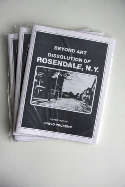 Beyond Art: Dissolution of Rosendale, NY