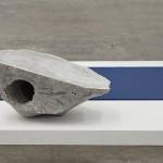 Chris Evans, Clerk of Mind, detail of CLODS, Diplomatic Letters showing CLOD I (light), 2012. Concrete, marble, pvc mat, painted wooden platform. Dimensions variable. Project Arts Centre, Dublin (2014)