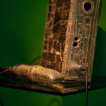 Garrett Phelan, Ethereal Assemblage – Undiscovered Celtic Gold Nuemann U86 Microphone and 1 Watt FM Transmitter Case with Schematics Carved Exterior 2500 BC – A VOODOO FREE PHENOMENON, 2015