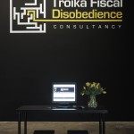 Núria Güell, Troika Fiscal Disobedience Consultancy, 2016, exhibition view at Project Arts Centre.