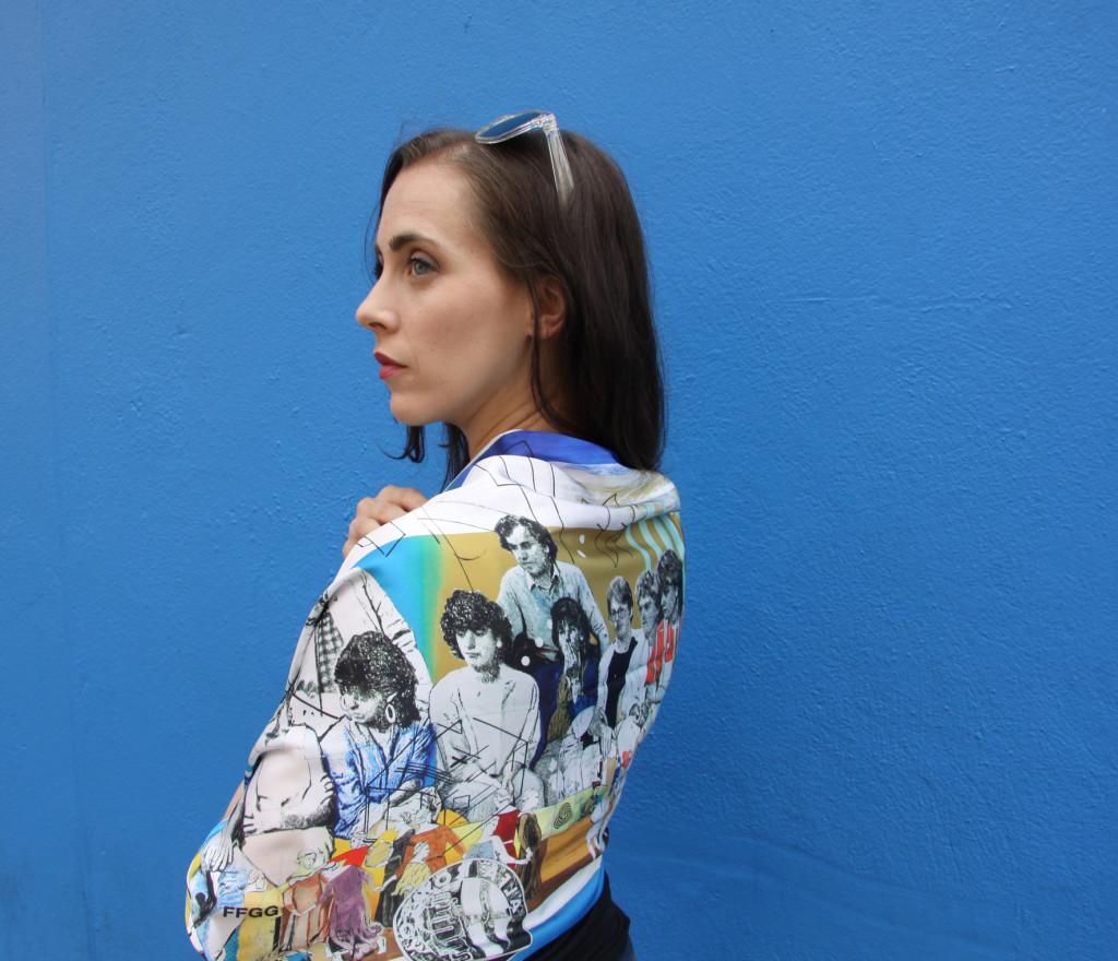 Empireland scarf - Mark O'Kelly - Project Arts Centre, Dublin