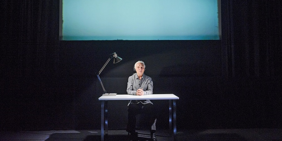 Lessness by Samuel Beckett performed by Olwen Fouéré - Theatre at Project Arts Centre, Dublin (image by Tristram Kenton)