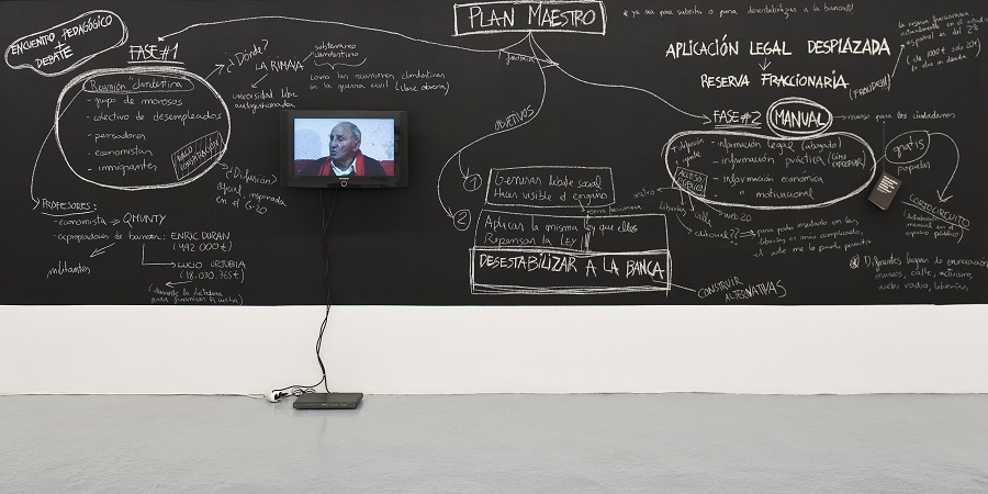 Núria Güell, Displaced Legal Application Fractional Reserve, 2014, image 1 - Exhibitions at Project Arts Centre, Dublin