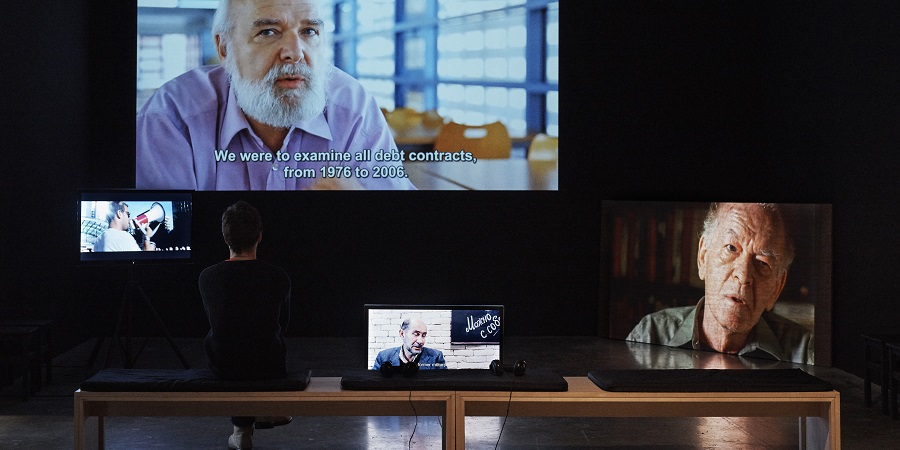 Troika Fiscal Disobedience Consultancy - Nuria Guell - Exhibitions at Project Arts Centre, Dublin