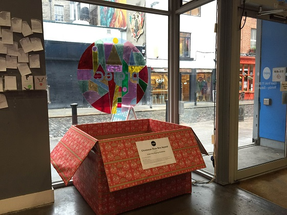 Help the homeless Christmas Shoe Box Appeal at Project Arts Centre