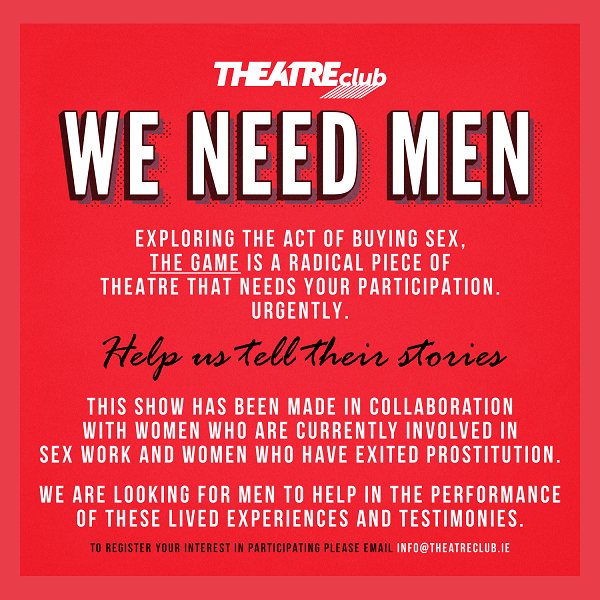 THEATREclub are looking for male volunteers